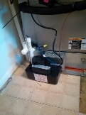 Gambrills, MD - AC air conditioning & heating system condensate pump replacement installation & plumbing repair service call Gambrills Maryland