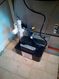 Gambrills, MD - AC air conditioning & heating system condensate pump replacement installation & plumbing repair service call Gambrills Maryland 21054