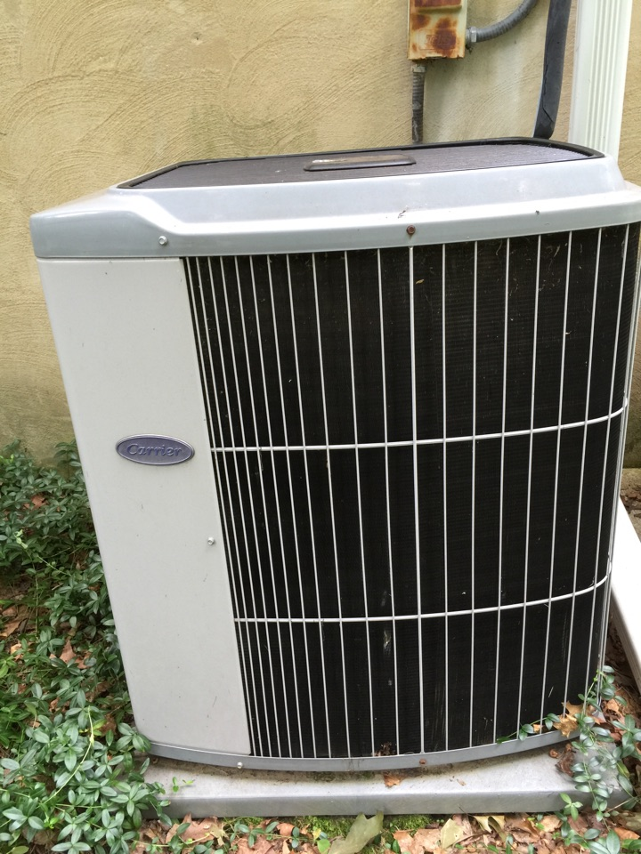 Gambrills, MD - Carrier ac air conditioning system repair service call Gambrills Maryland