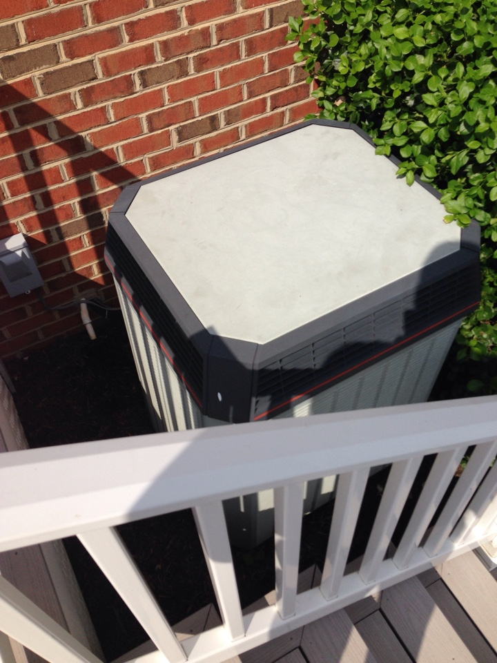 Gambrills, MD - Trane heat pump ac air conditioning & heating system replacement installation service call Gambrills Maryland