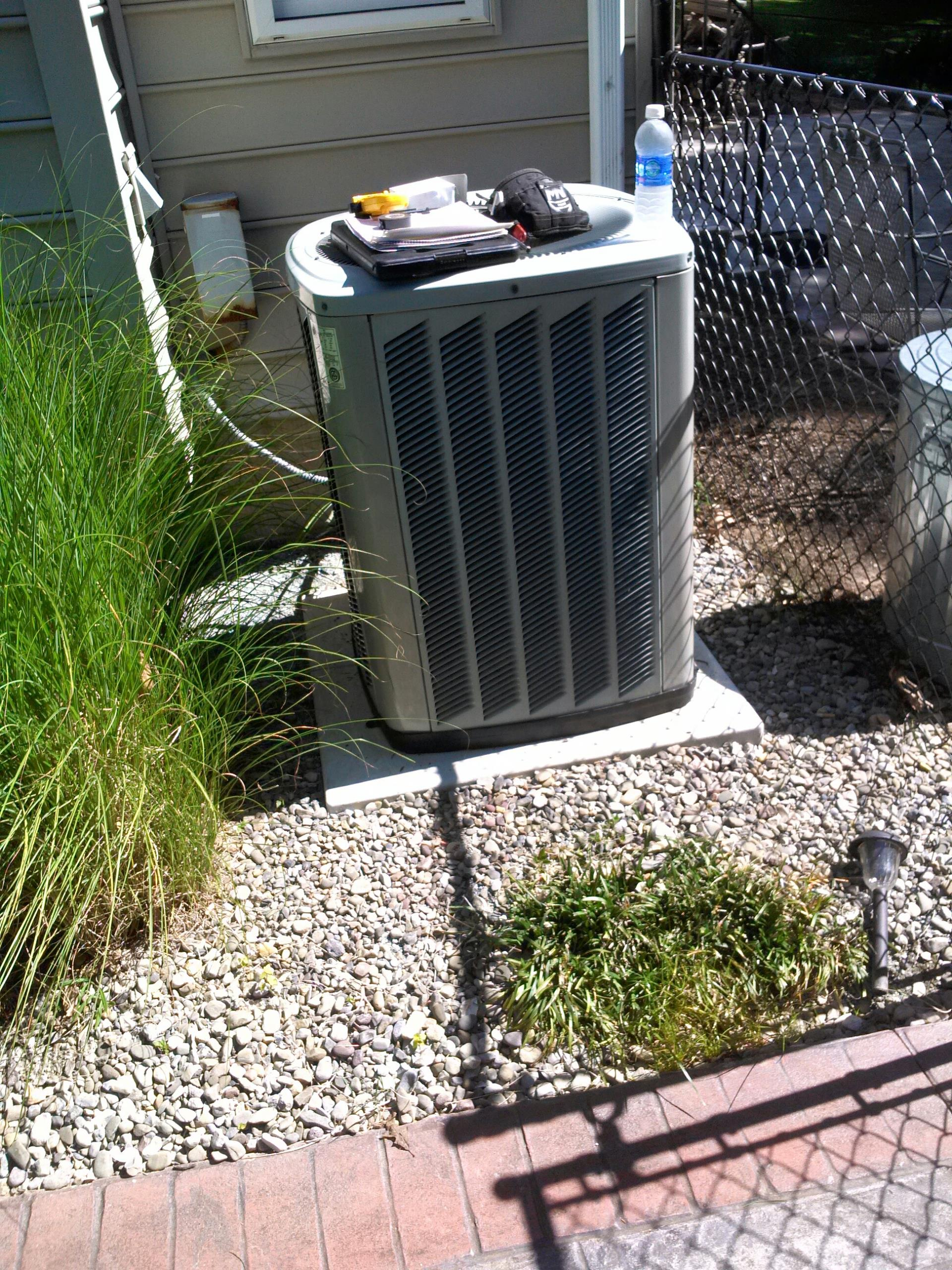 Goddard, MD - Trane ac air conditioning & heating system installation repair service call Goddard Maryland