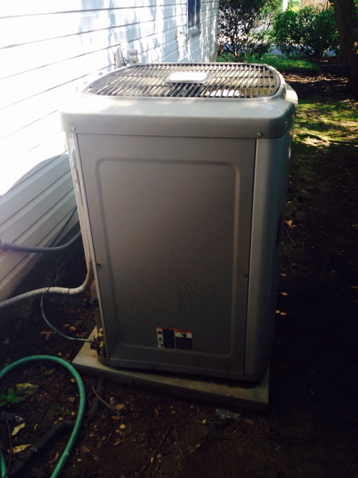 Gambrills, MD - Carrier gas furnace heating & A/C system replacement installation service call Crofton Maryland