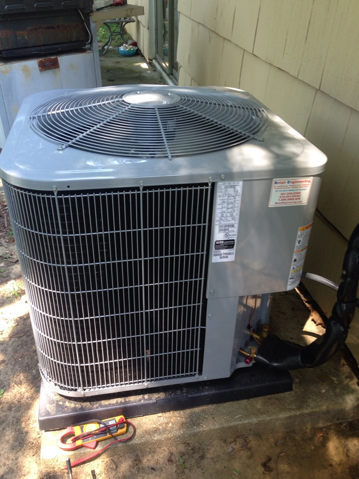 Crofton, MD - Gas furnace heating & ac air conditioning system, Aprilaire media air cleaner replacement installation service call Crofton Maryland 21114