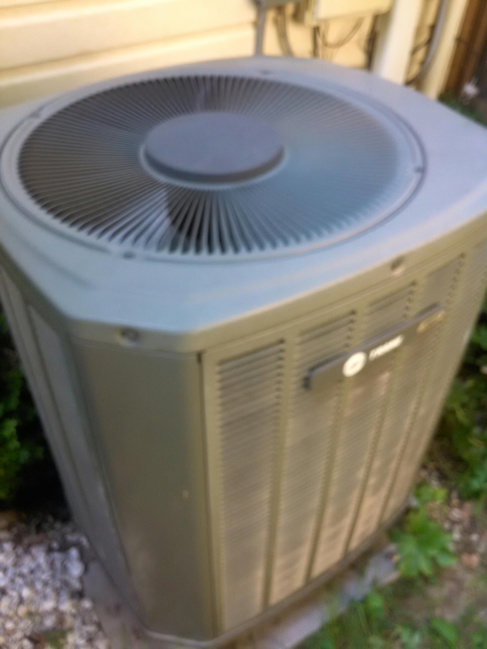Crofton, MD - Trane heat pump furnace heating & ac air conditioning system replacement installation service call Crofton Maryland 21114