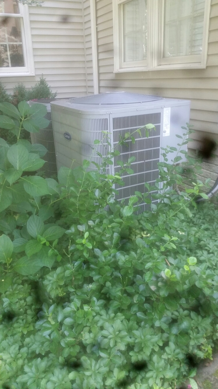 Gambrills, MD - Carrier heat pump furnace heating & ac air conditioning system replacement installation service call Gambrills Maryland 21054