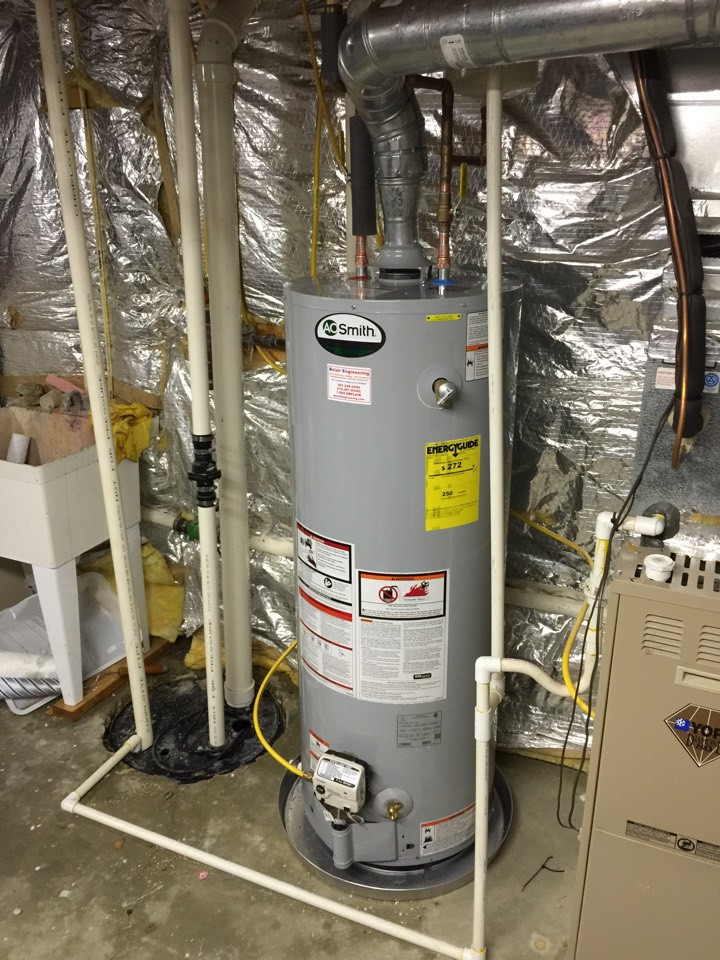Gambrills, MD - Water heater replacement installation & plumbing repair service call Gambrills Maryland 21054