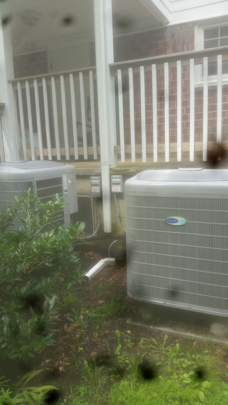 Gambrills, MD - Heat pump heating & ac air conditioning system, Aprilaire furnace air cleaner & whole house humidifier replacement installation repair service call Gambrills Maryland 21054