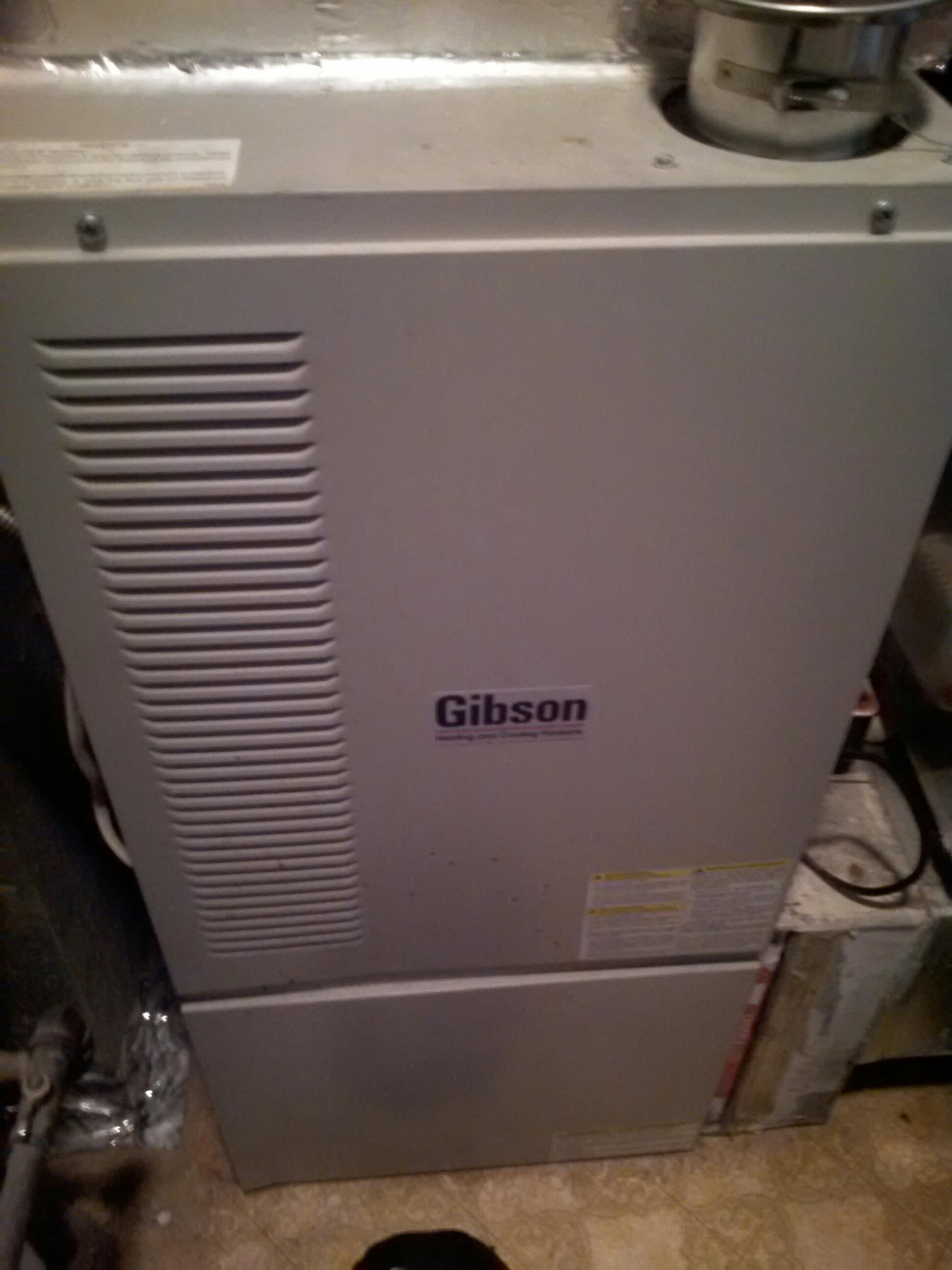 Morningside, MD - Gibson gas furnace heating & air conditioning system replacement installation service call Morningside Maryland 20746