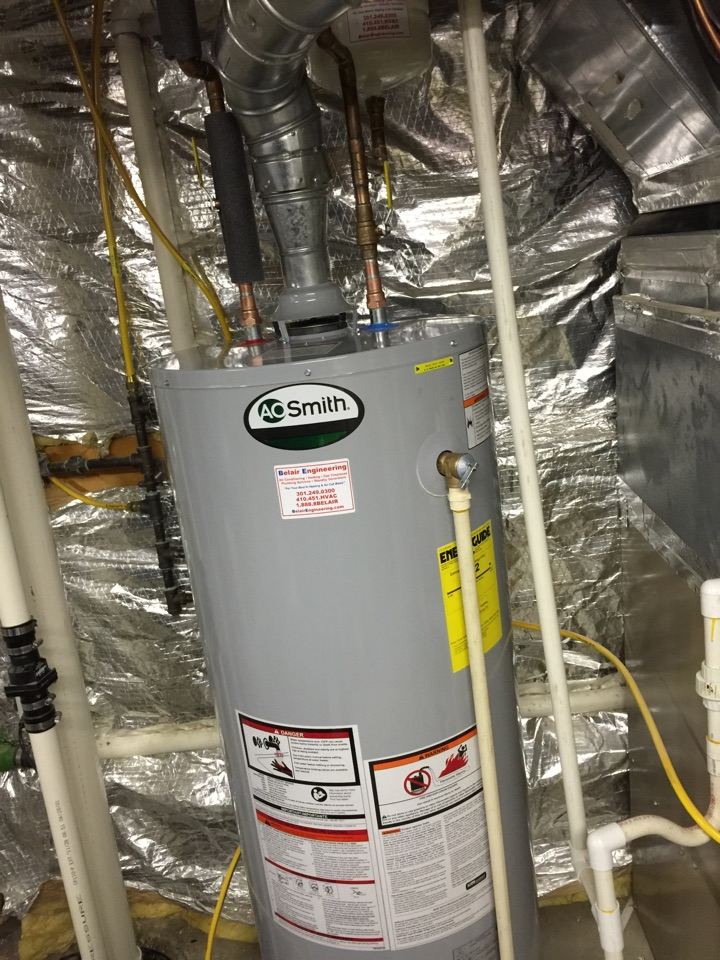 Gambrills, MD - Hot water heater replacement installation & plumbing repair service call Gambrills Maryland 21054