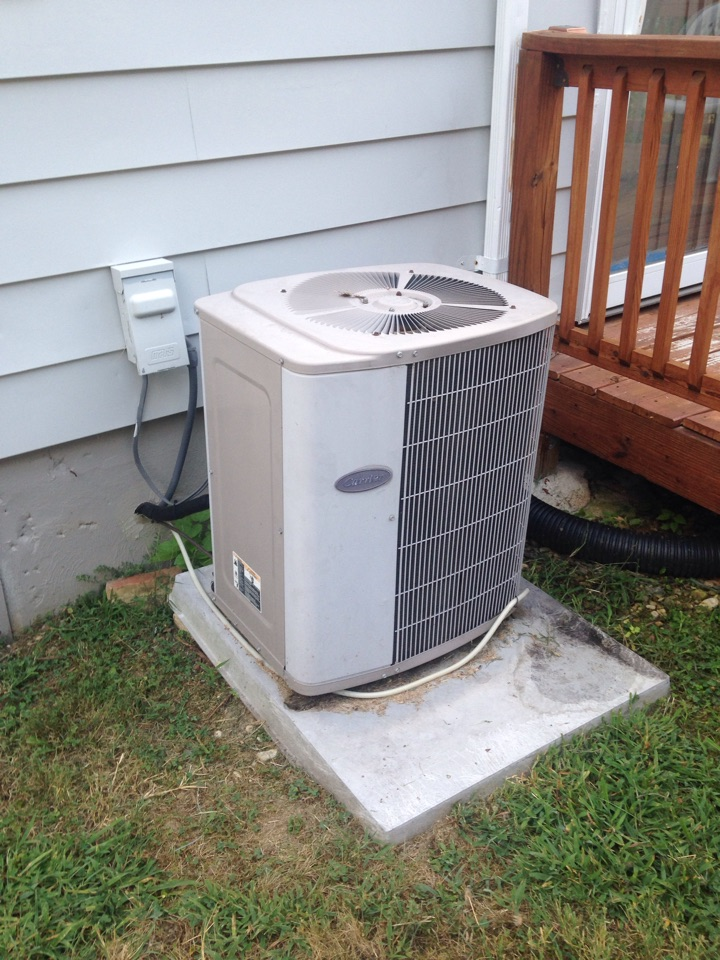 Morningside, MD - Carrier gas furnace heating & ac air conditioning system replacement installation repair service call Morningside Maryland 20746