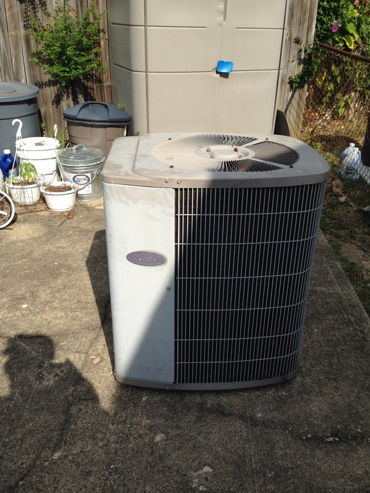 Morningside, MD - Carrier gas heating furnace & AC system replacement installation repair service call Morningside Maryland