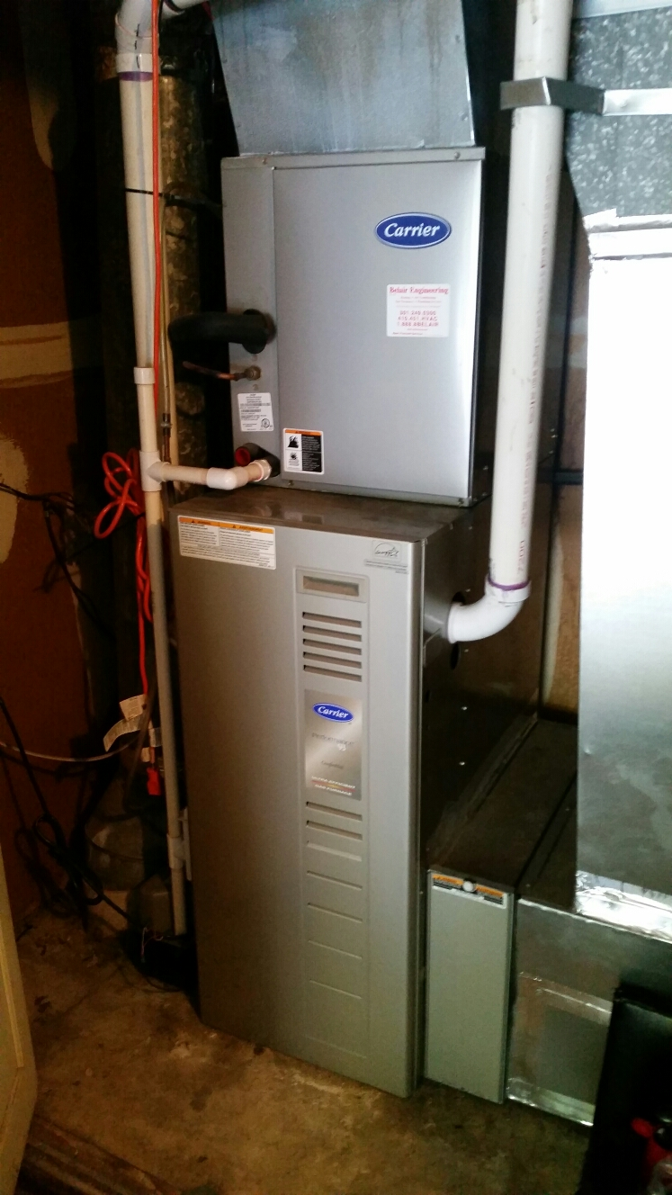 Crofton, MD - Gas furnace heating & air conditioning system & humidifier replacement installation repair service call Crofton Maryland