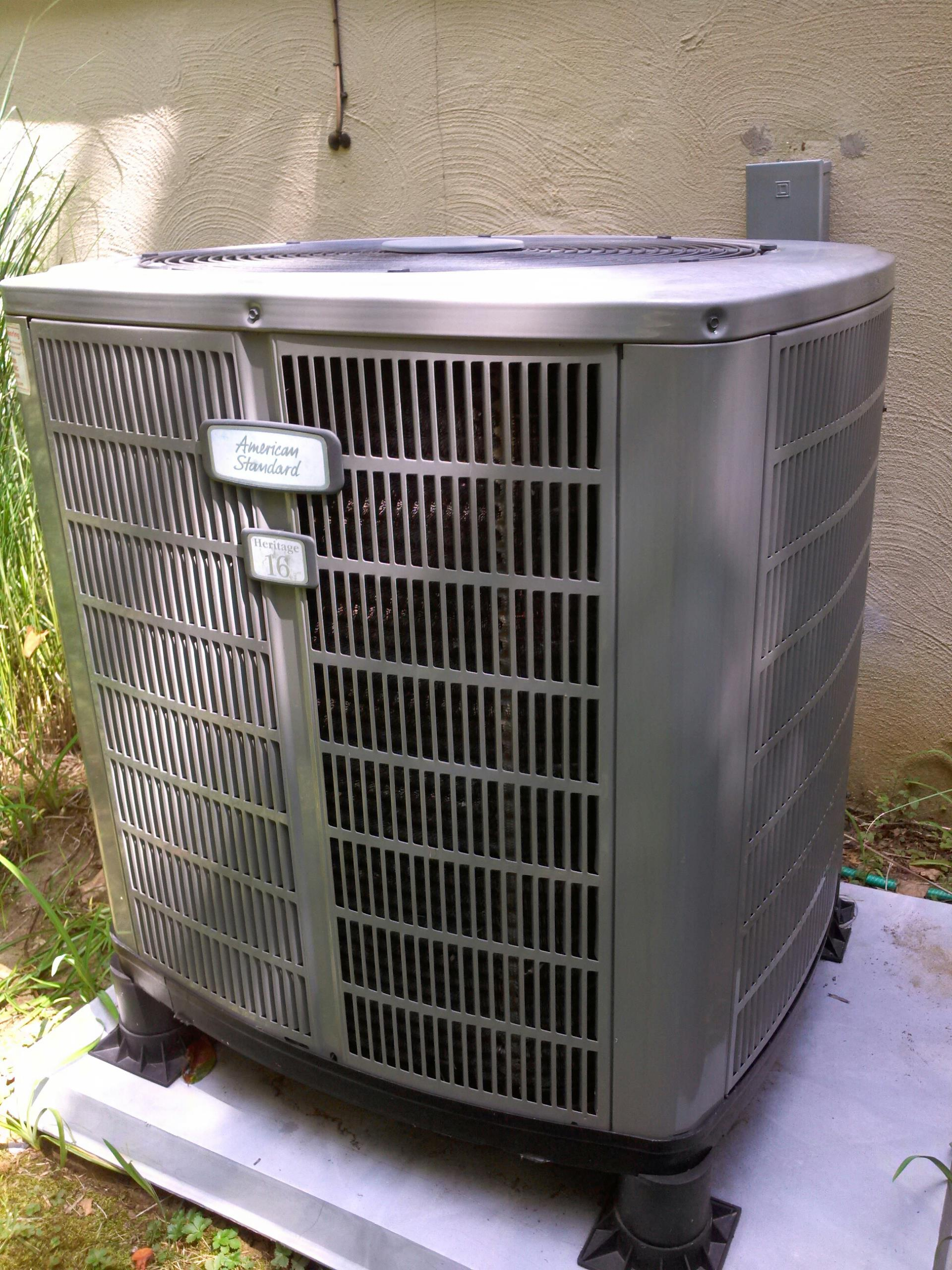 Crofton, MD - American Standard heat pump furnace heating & air conditioning system replacement installation repair service call Crofton Maryland