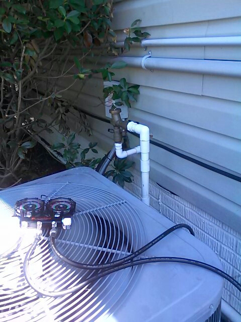 Gambrills, MD - Heat pump furnace heating & air conditioning system freon replacement installation repair service call in Gambrills Maryland