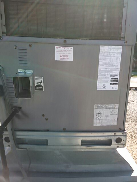 Gambrills, MD - Carrier gas furnace heating & air conditioning system & Aprilaire humidifier installation repair service call in Gambrills Maryland