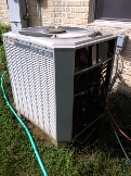 Crownsville, MD - Trane heat pump heating & air conditioning system replacement installation service call in Crownsville Maryland