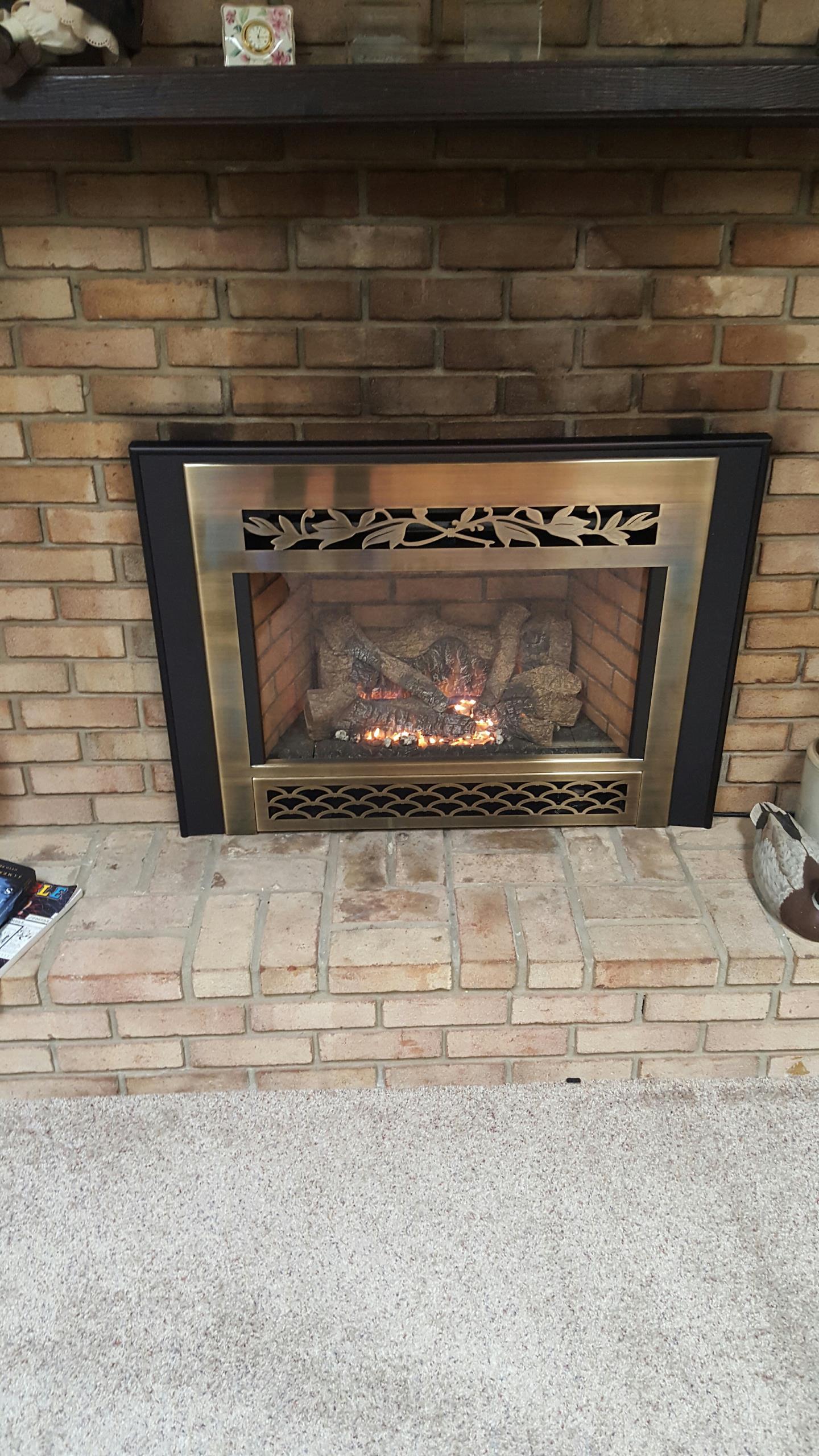 Crofton, MD - Gas fireplace insert & gas logs repair service call Crofton Maryland