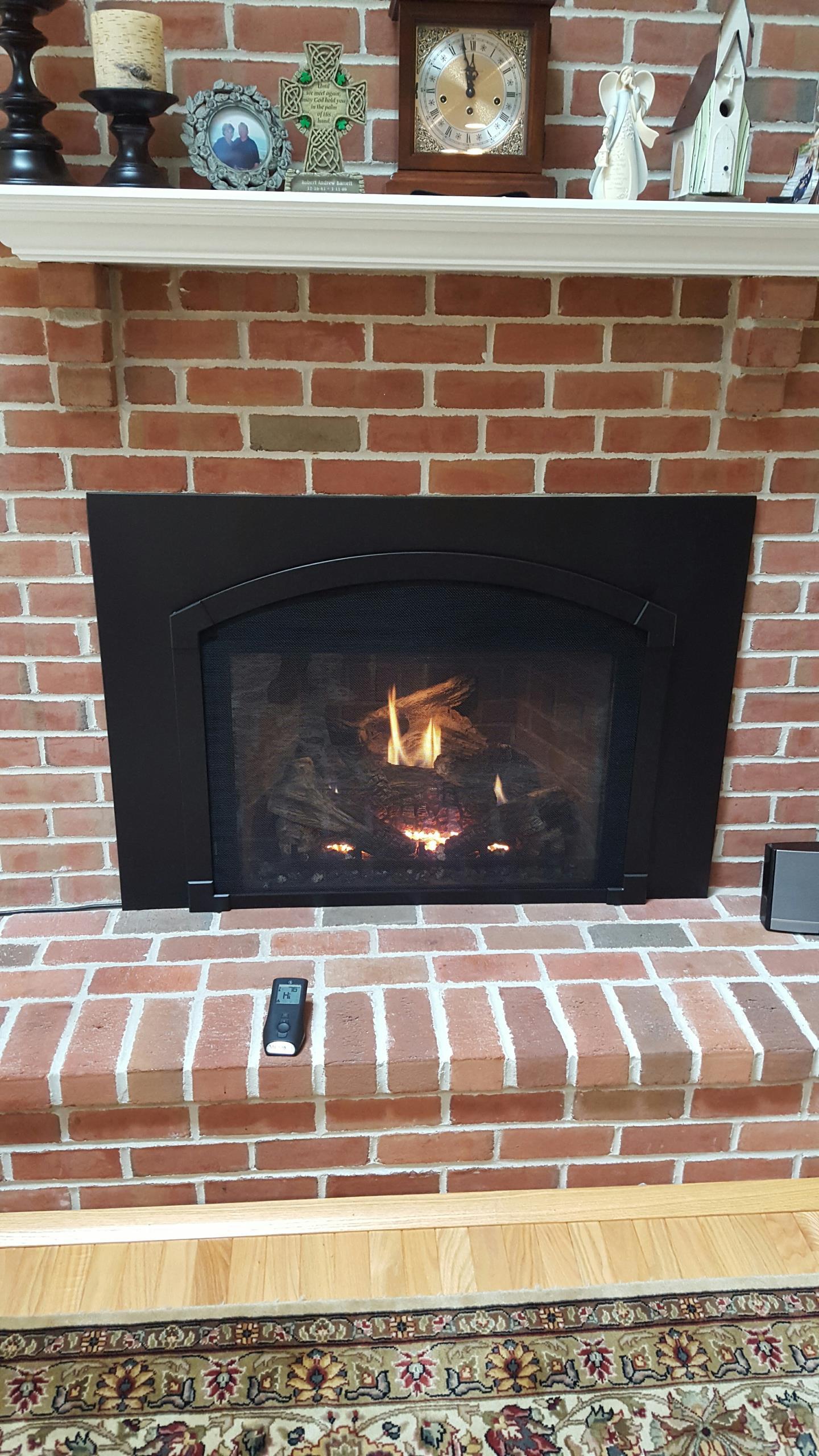 Crofton, MD - Mendota gas fireplace insert & gas logs repair service call Crofton Maryland