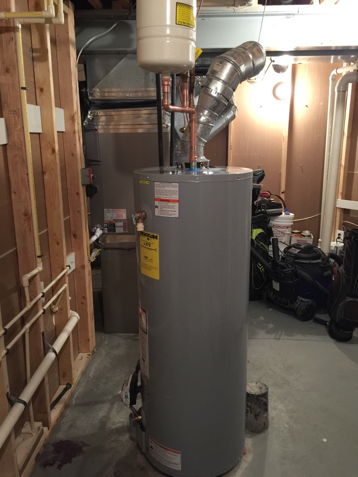 Gambrills, MD - Water heater replacement installation & plumbing repair service call Gambrills Maryland