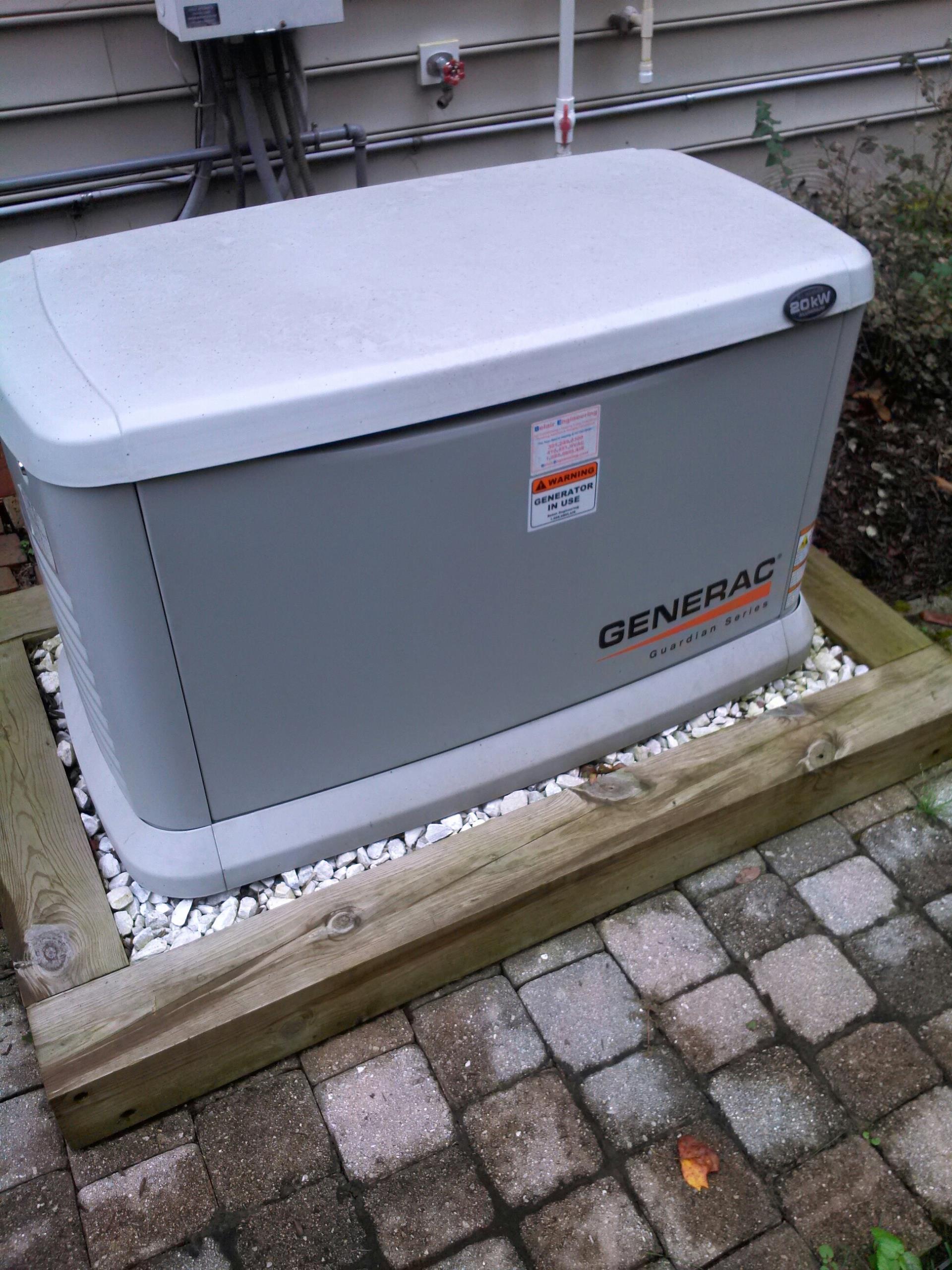 Crofton, MD - Generac 20 kw standby generator installation repair service call Crofton Maryland