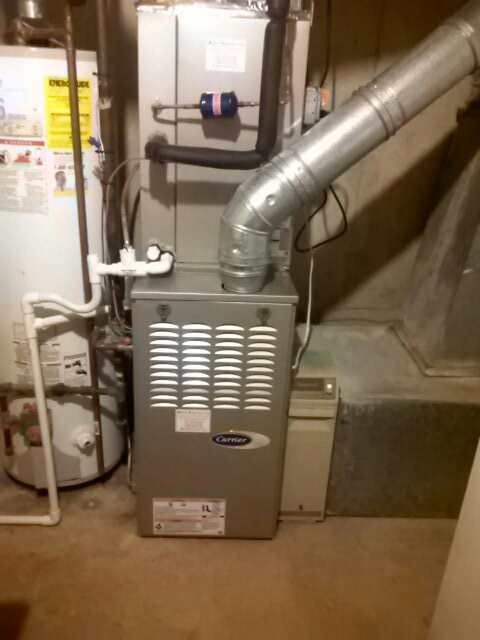 Crofton, MD - Carrier heating system & Honeywell electronic air cleaner maintenance repair service call Crofton Maryland