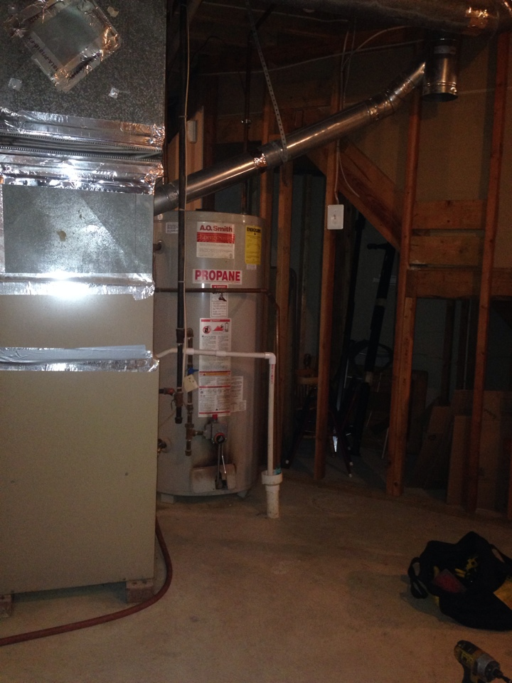 Crownsville, MD - Propane LP gas furnace heating & air conditioning system replacement installation repair service call Crownsville Maryland