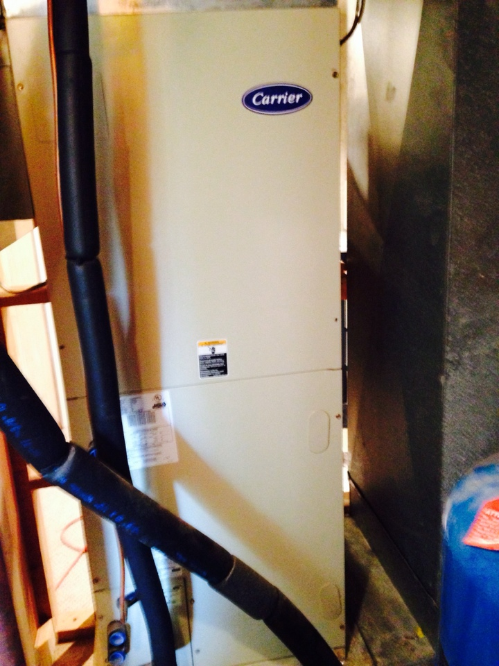 Crownsville, MD - Replacement installation on a Carrier heat pump heating & AC system in Crownsville Maryland