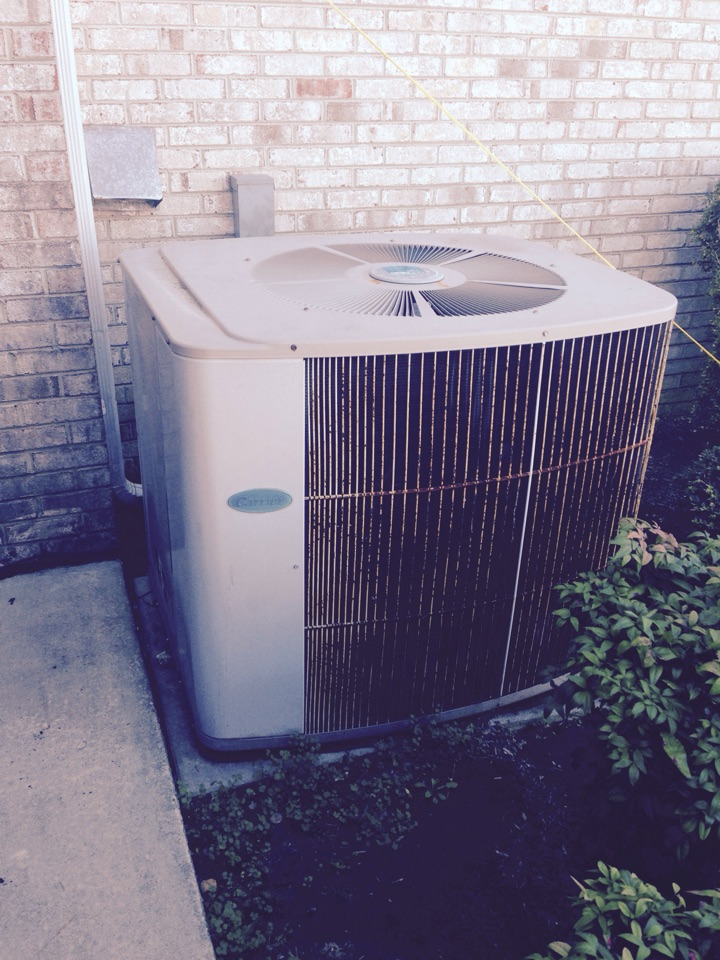 Glenarden, MD - Carrier gas heating furnace & A/C system & Honeywell electronic air cleaner replacement installation repair service call Glenarden Maryland