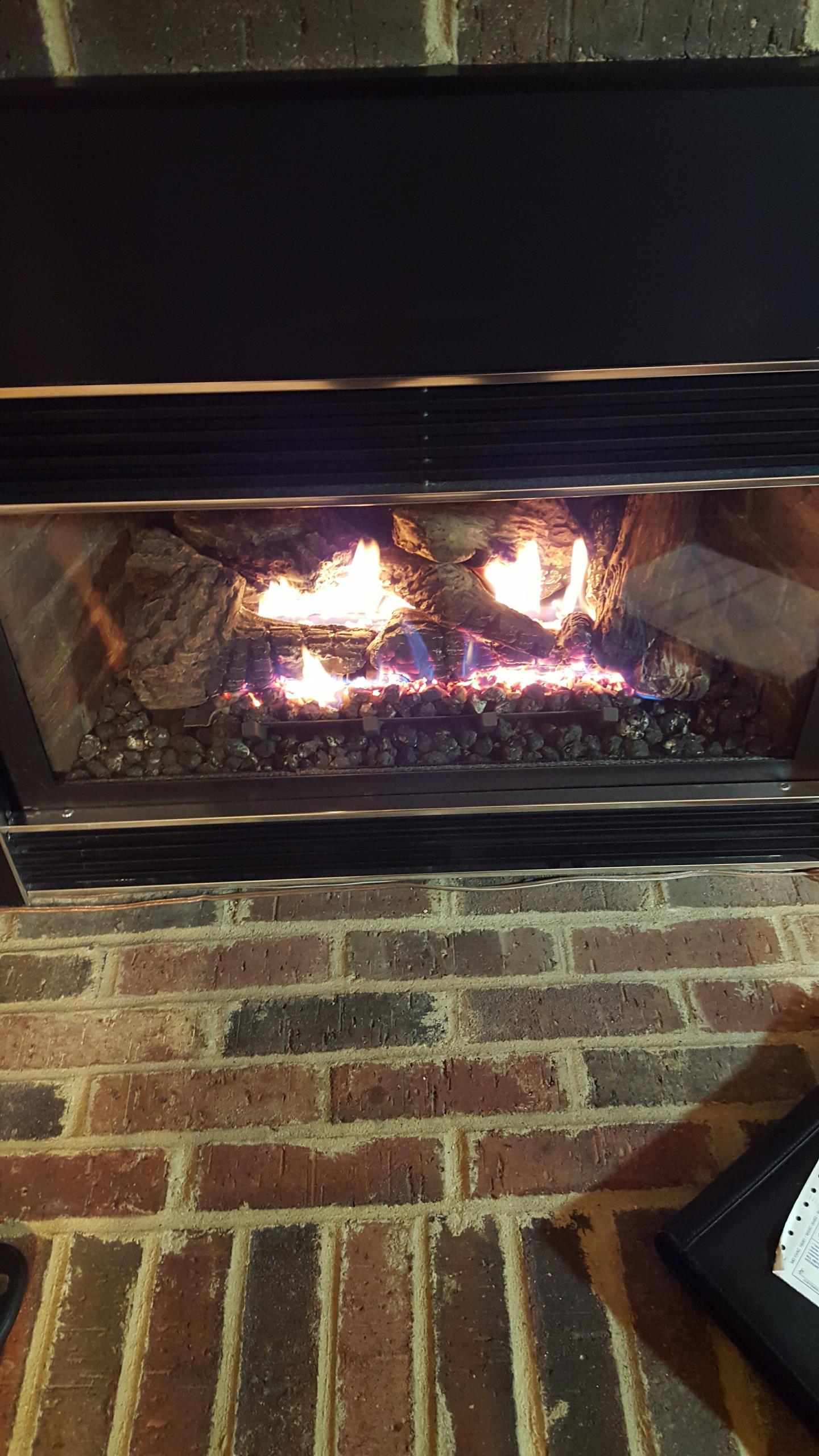 Gambrills, MD - Mendota gas fireplace insert & gas logs installation repair service call Gambrills Maryland