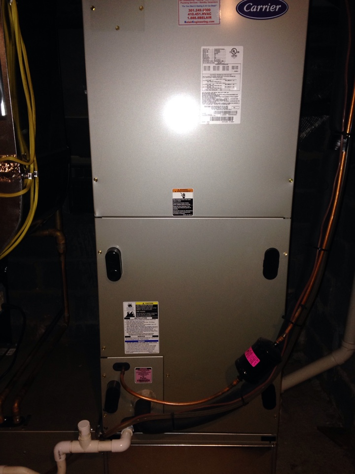 Gambrills, MD - carrier heat pump furnace heating & air conditioning system air filter replacement installation repair service call gambrills maryland