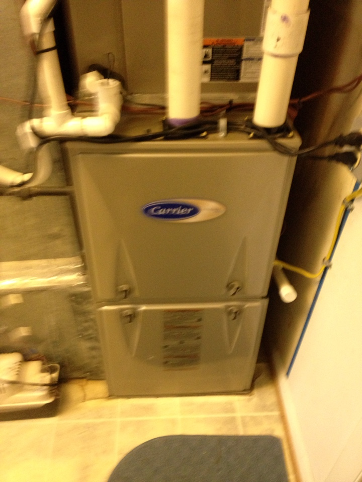 Gambrills, MD - Gas heating furnace & A/C system air filter replacement installation repair service call Gambrills Maryland
