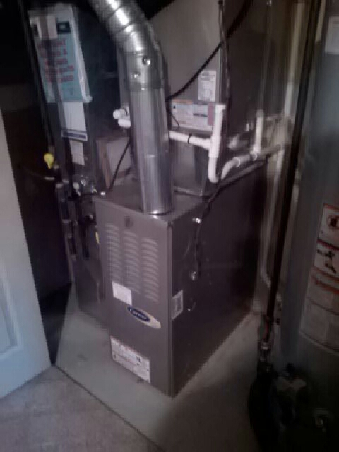 Crofton, MD - Gas furnace heating & cooling system & Aprilaire humidifier pad replacement installation & maintenance repair service call Crofton Maryland