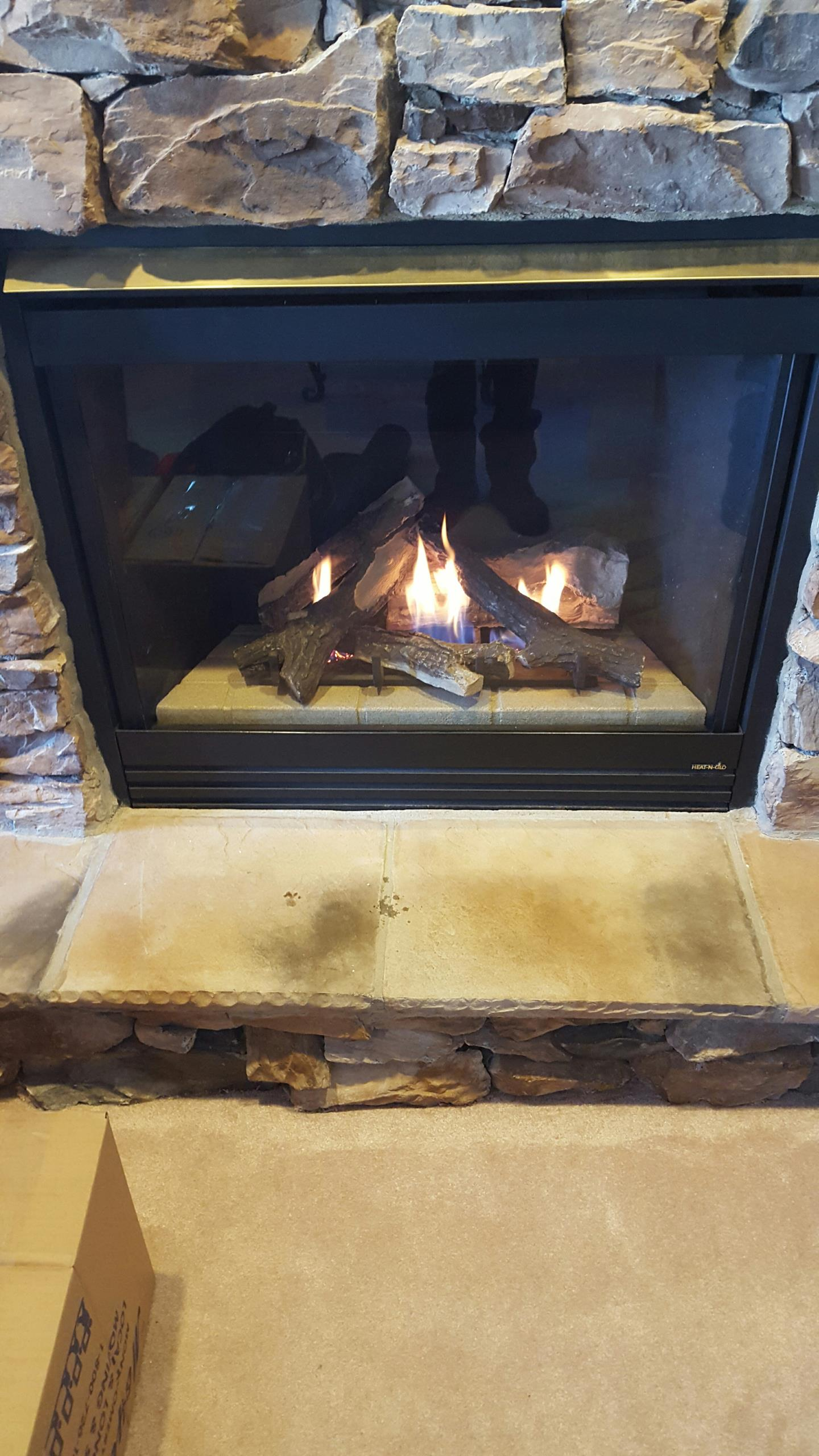 Gambrills, MD - Heat n glo gas fireplace insert & gas logs installation repair service call Gambrills Maryland