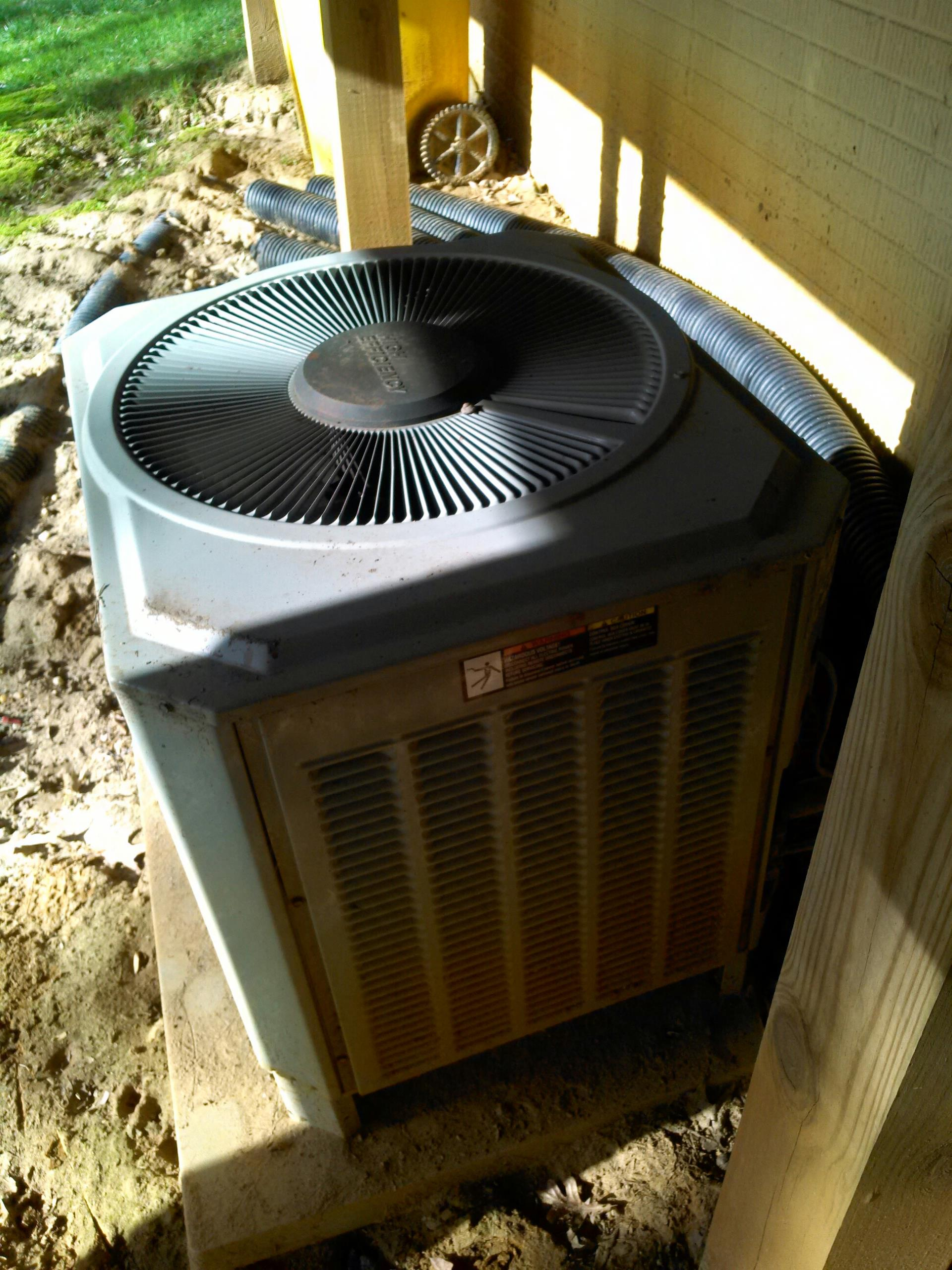 Crownsville, MD - trane heat pump heating & air conditioning system air filter replacement installation service call crownsville maryland