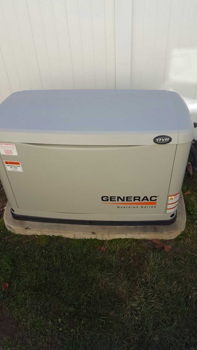 Savage, MD - Generac 17 kw standby backup generator installation repair service call Savage Maryland