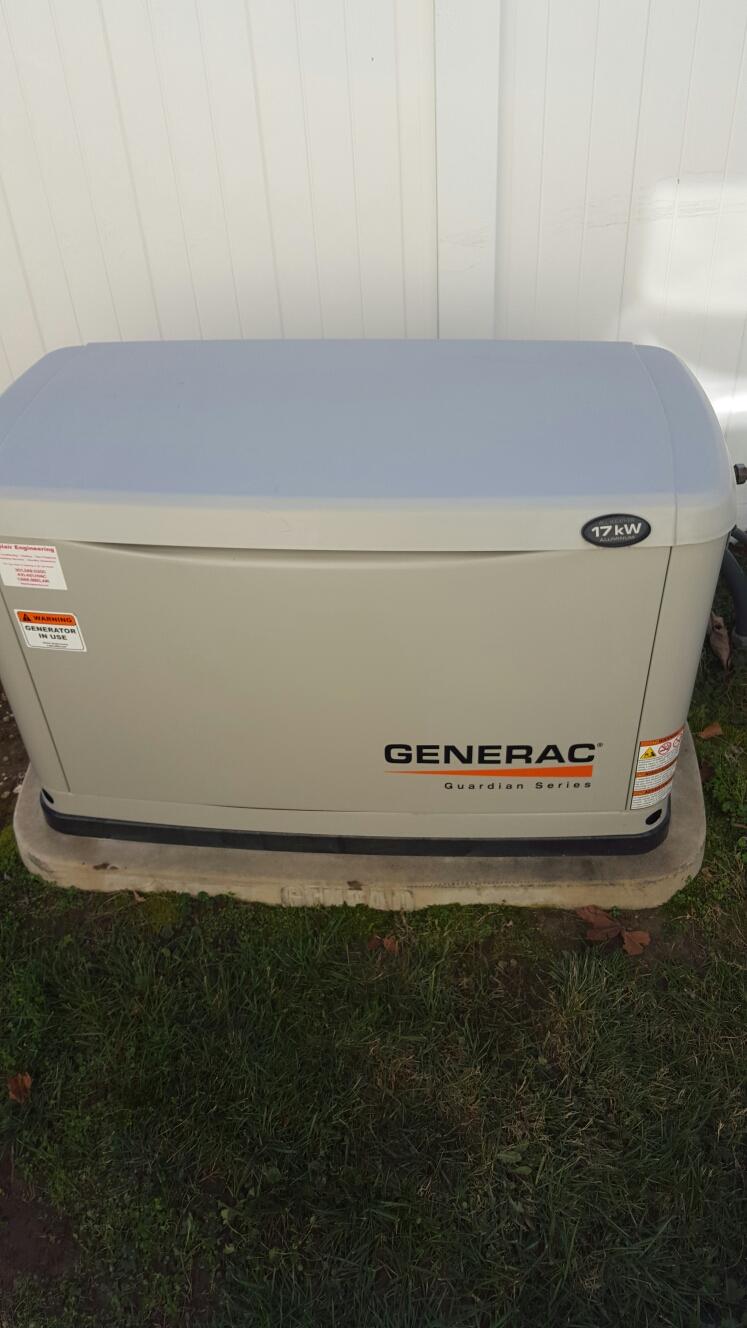 Savage, MD - Generac 17 kw standby backup generator installation repair service call Savage Maryland