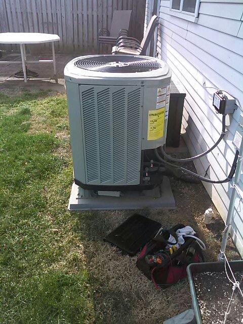 Gambrills, MD - Trane heat pump & furnace air filter maintenance repair service call Gambrills Maryland