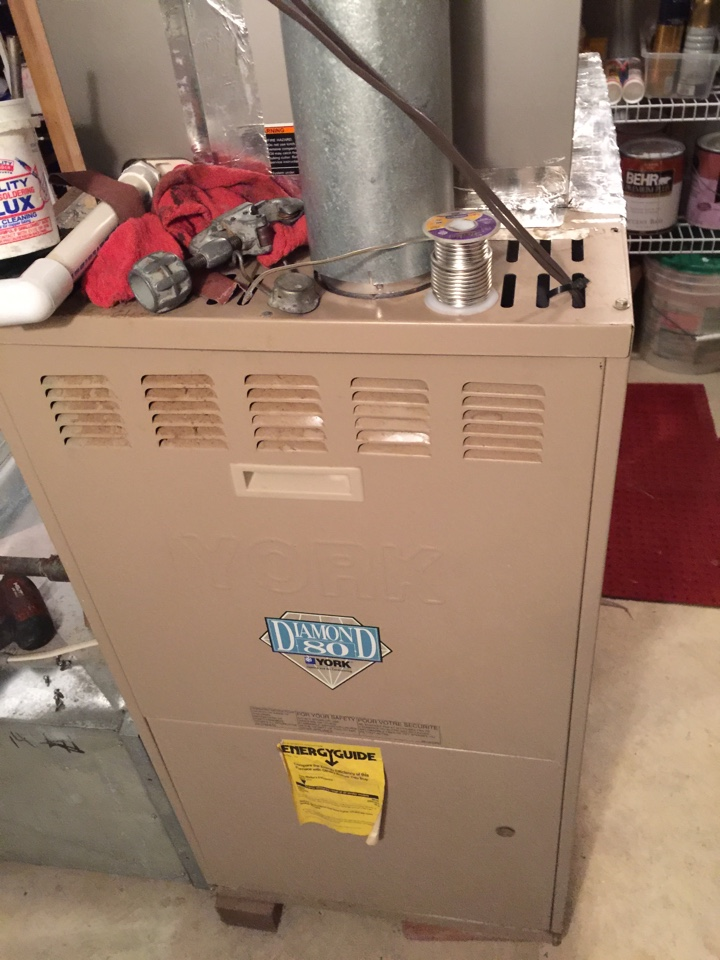 Crownsville, MD - York Diamond 80 gas furnace heating & air conditioning system replacement installation repair service call Crownsville Maryland