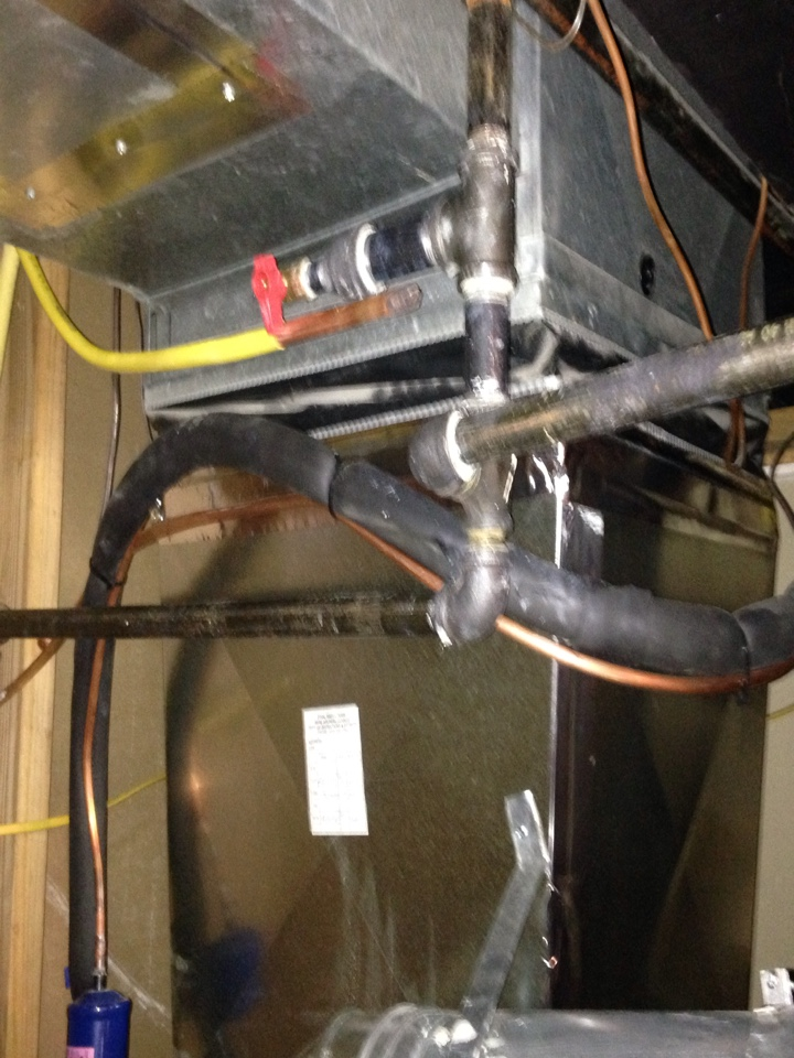 Crofton, MD -  Goodman gas furnace heating & air conditioning system & Aprilaire media filter replacement installation repair service call Crofton Maryland