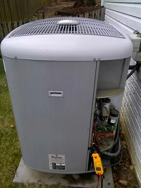 Crofton, MD - Goodman heat pump heating & air conditioning system air filter replacement installation repair service call Crofton Maryland