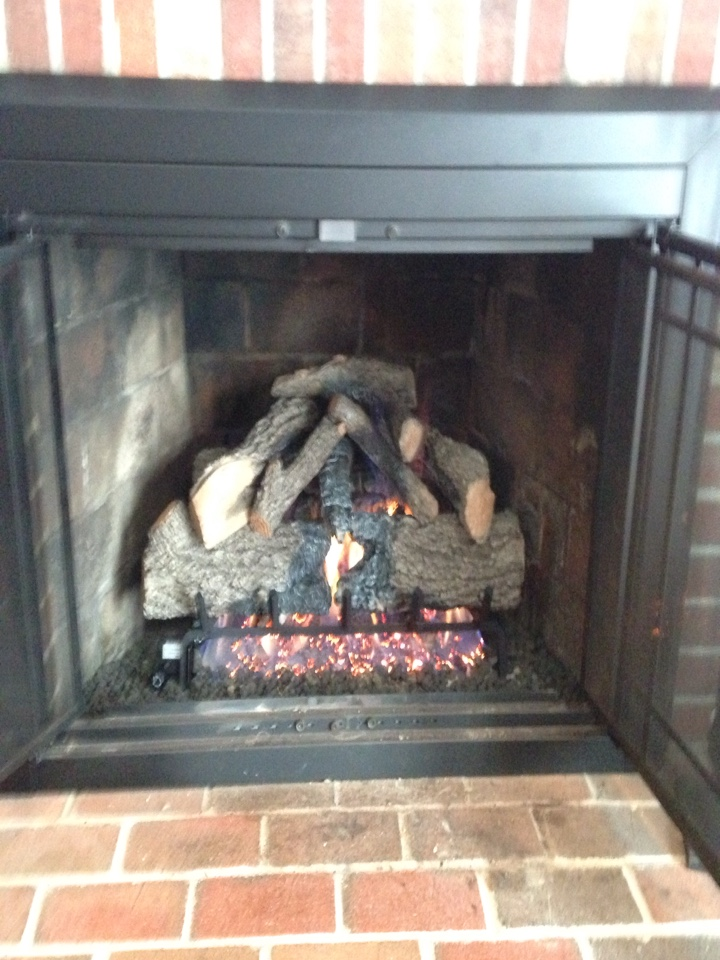 Crofton, MD - Peterson Real Fyre gas fireplace insert & gas logs installation repair service call Crofton Maryland