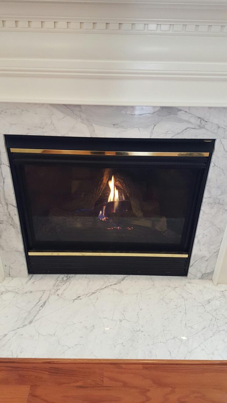 Crofton, MD - Heatilator gas fire place insert & gas log set installation repair service call Crofton Maryland