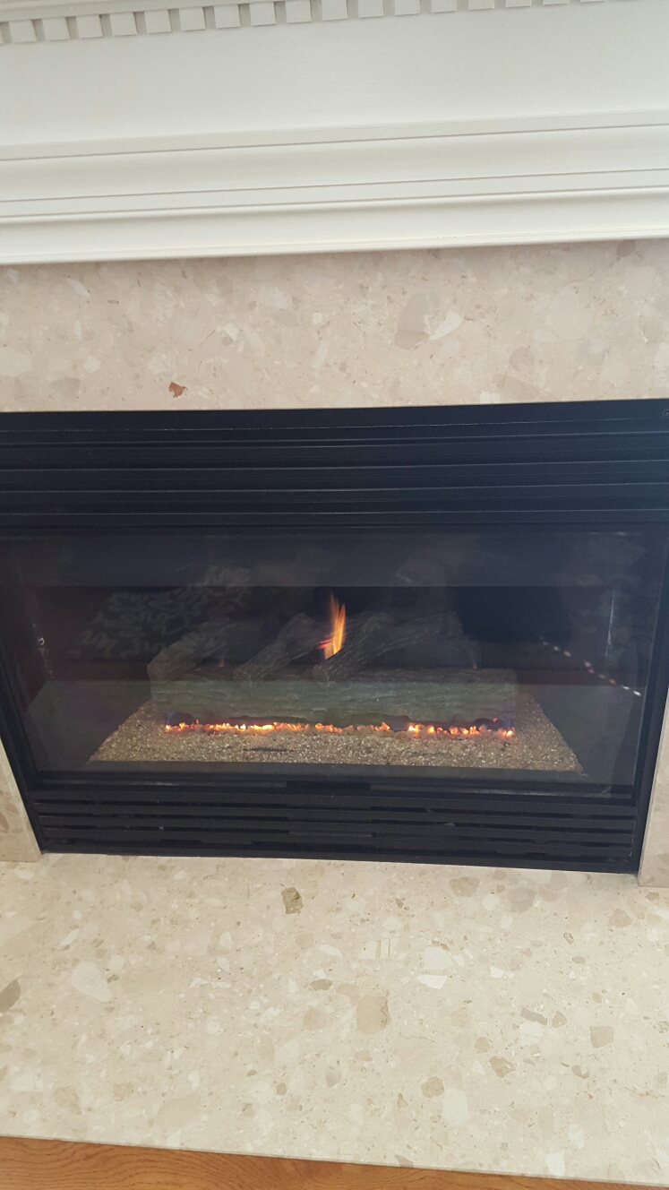 Crofton, MD - Heatilator gas fireplace insert & gas logs installation repair service call Crofton Maryland