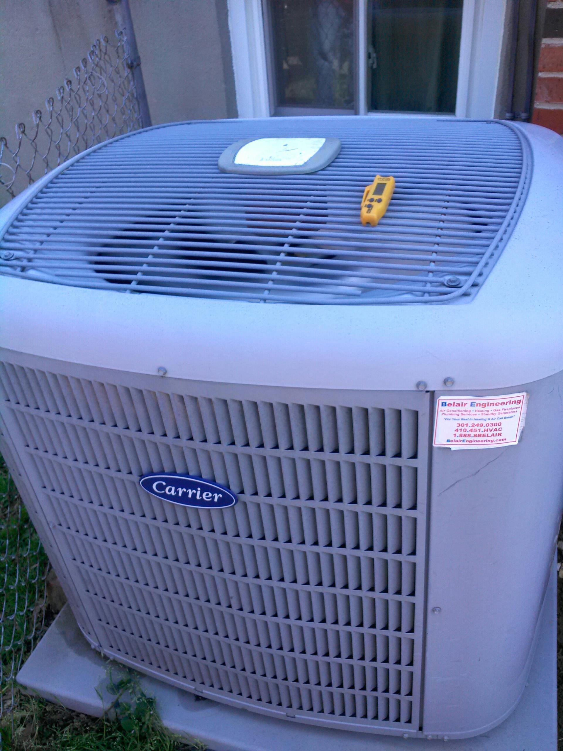 Berwyn Heights, MD - Carrier ac air conditioning & heating system repair service call Berwyn Heights Maryland