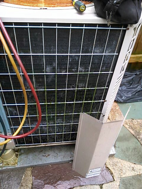 Goddard, MD - York heat pump AC air conditioning & heating system replacement installation service call Goddard Maryland