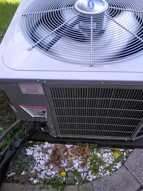 Goddard, MD - A/C air conditioning & cooling system replacement installation service call Goddard Maryland