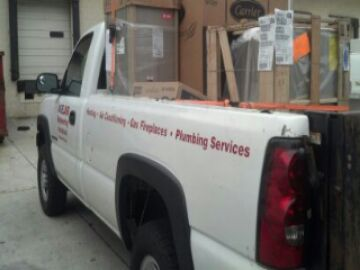Hanover, MD - Picking up a Carrier heating & air conditioning system replacement installation shipment for an installation in an Annapolis MD home.