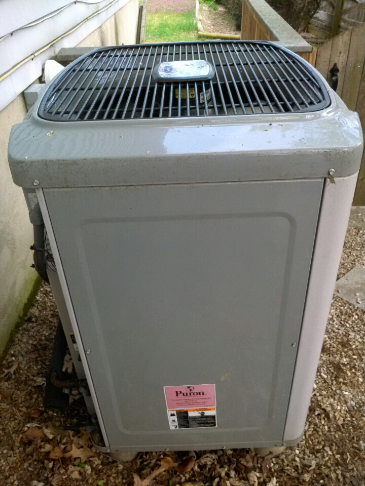 Crownsville, MD - Heat pump AC air conditioner heating & air conditioning system installation service call.