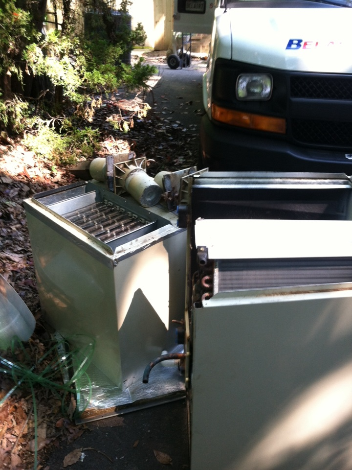 Crownsville, MD - Heat pump AC heating & air conditioning system & hot water heater replacement installation service call in Crownsville Maryland.