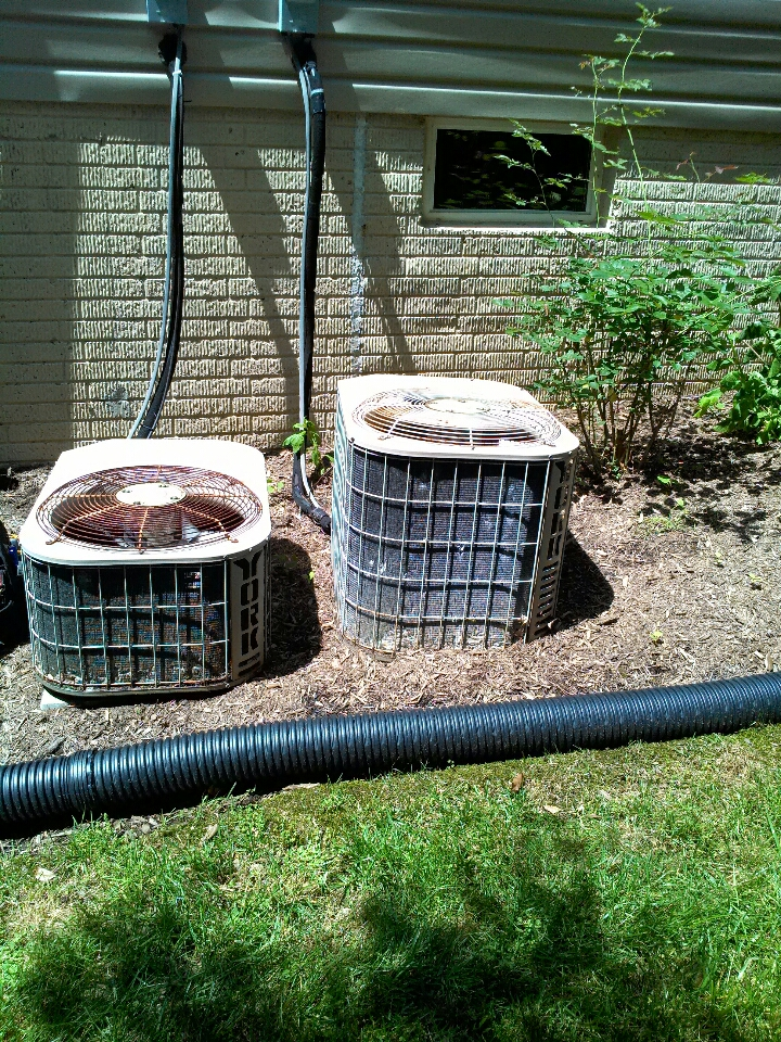 Crownsville, MD - York AC air conditioner heating & air conditioning system installation repair service call in Crownsville Maryland.